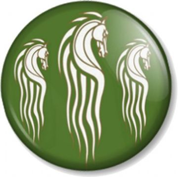 Rohan Kingdom Horse Pinback Button Badge Hobbit JRR Tolkien Lord Of The Rings (2)